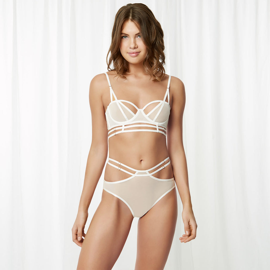 Rowan High Waist Brief Ivory