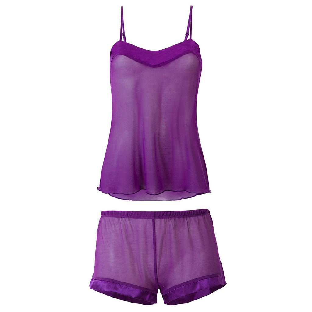 Georgia Cami and Shorts Set Purple