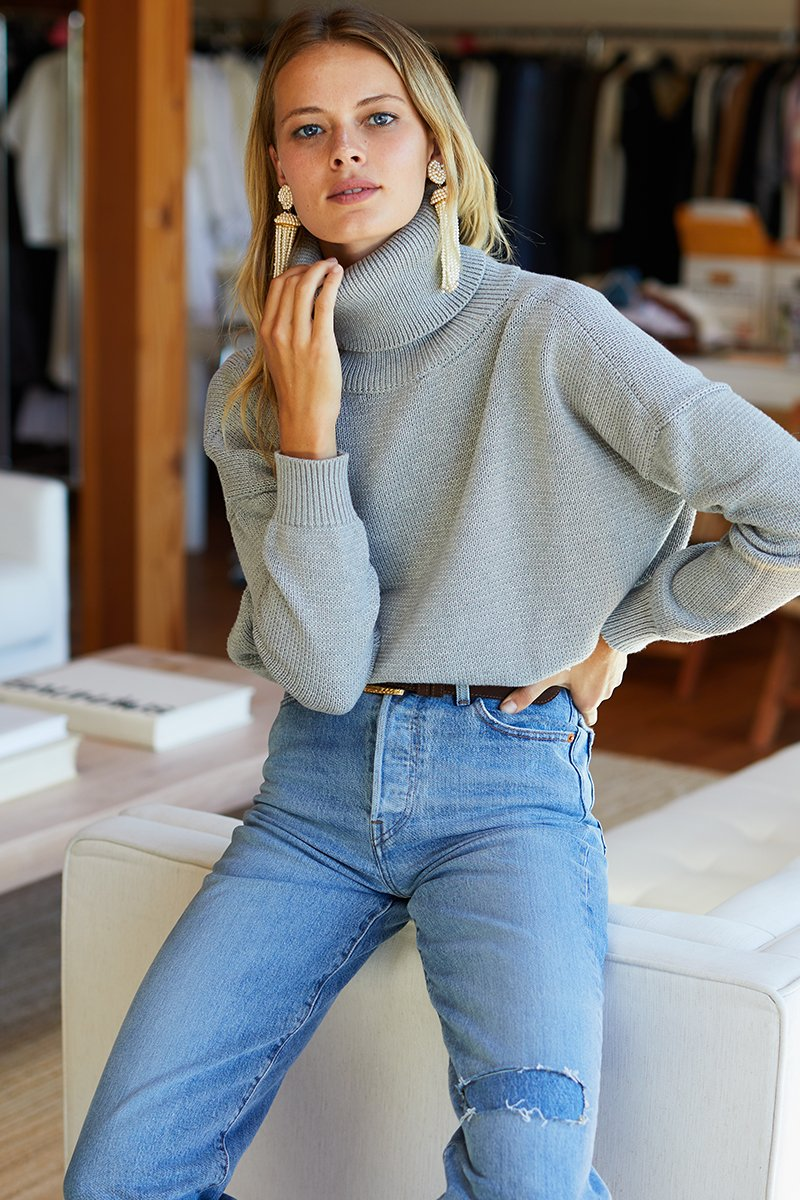 Carolyn Turtleneck Sweater Organic Cotton