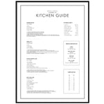 KITCHEN GUIDE POSTER