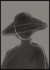 DIGITAL HAT WOMAN POSTER