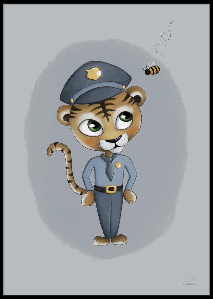 BABY TIGER POLICE POSTER