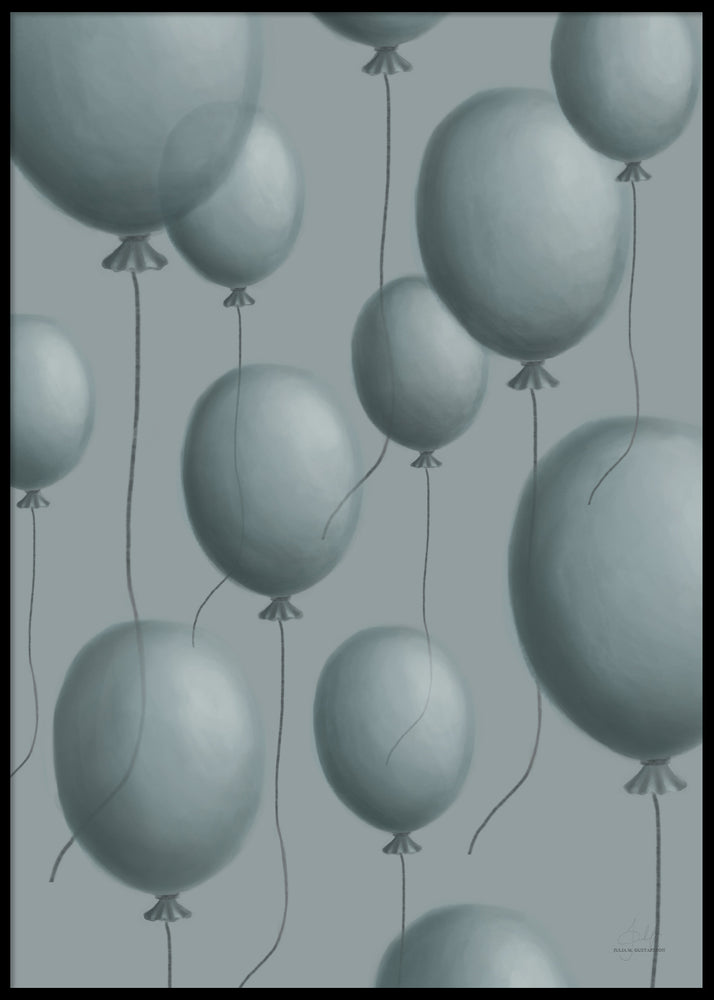 BLUE BALLOONS POSTER