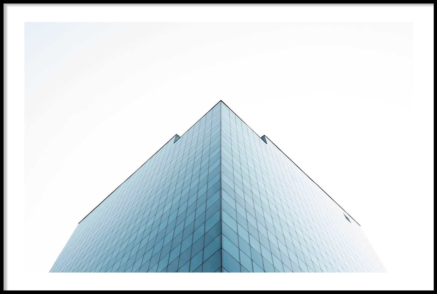 BLUE GLASS BUILDING POSTER