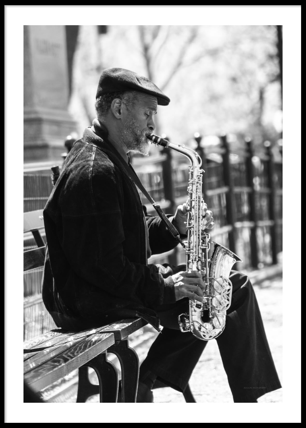 SAXOPHONE MAN NEW YORK POSTER