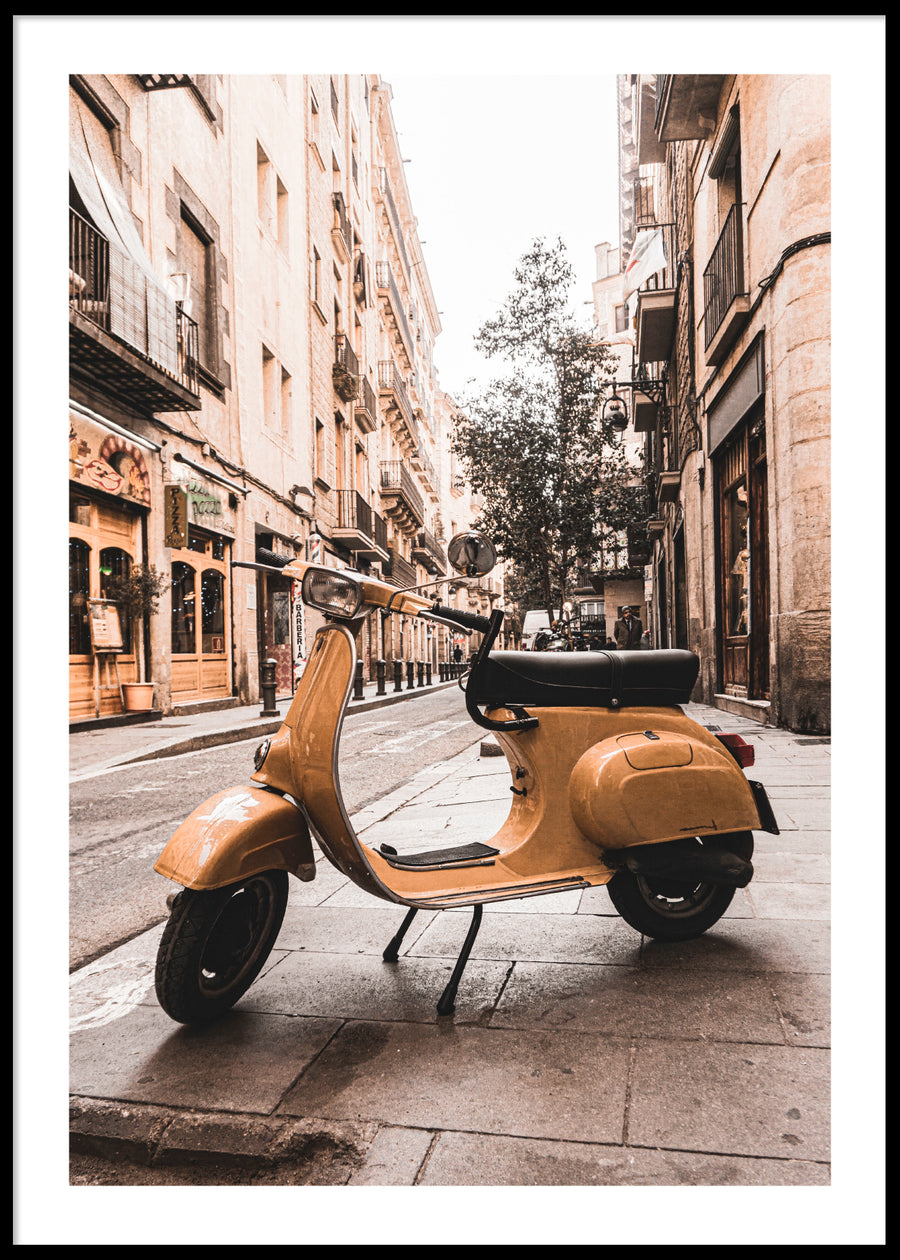 YELLOW VESPA POSTER