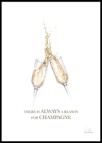 HAND-PAINTED CHAMPAGNE QUOTE POSTER
