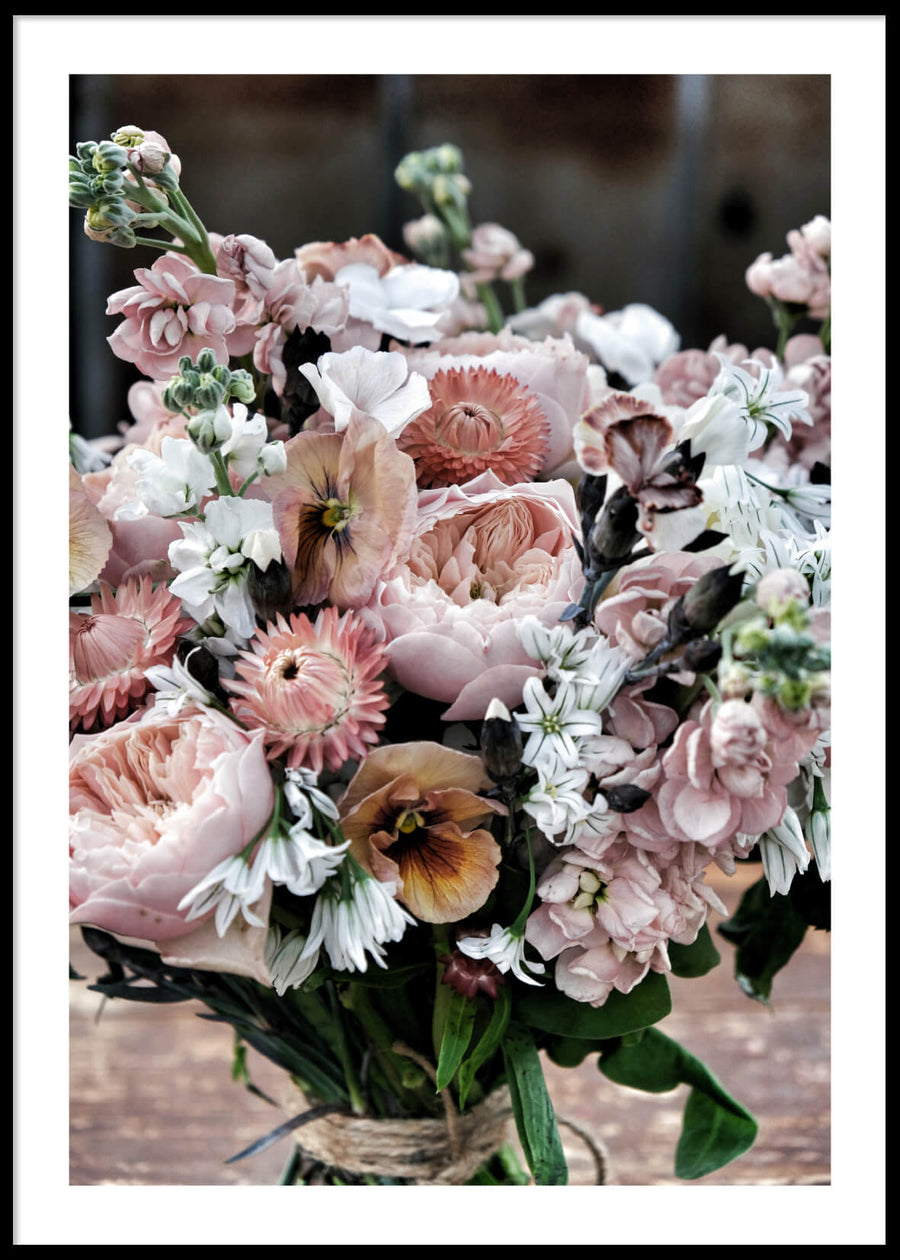 PINK & WHITE BOUQUET 2 POSTER