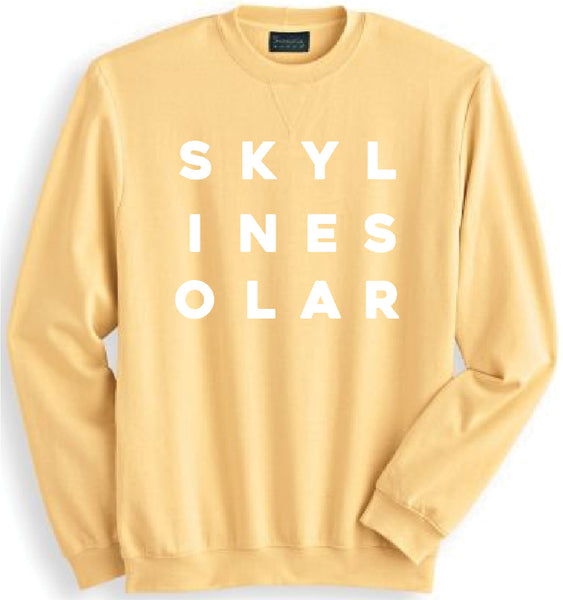 Skyline Solar Yellow Letter Sweatshirt