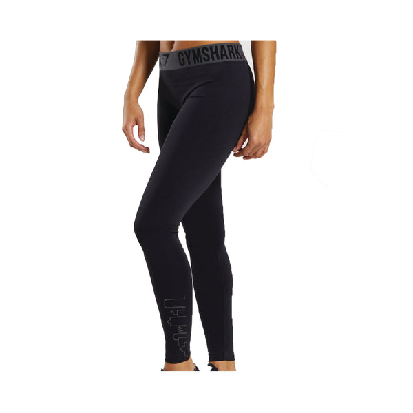 Women's SKYLINExGYMSHARK Fit Leggings Black Building
