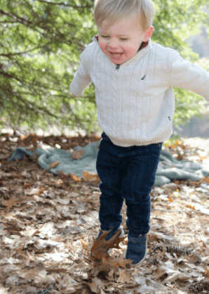 Outdoor activity for child's mood