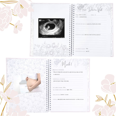 We created this pregnancy journal with the intention to inspire you on a positive pregnancy journey filled with love and joy. We want you to know that you are stronger than you think, and becoming a mother just proves it. Flowers blossom with sunlight, water, and patience. Similarly, the little bundle of joy inside you will blossom with your love, courage, and strength. We have included encouraging quotes inside to inspire you along the way.  Let love blossom.