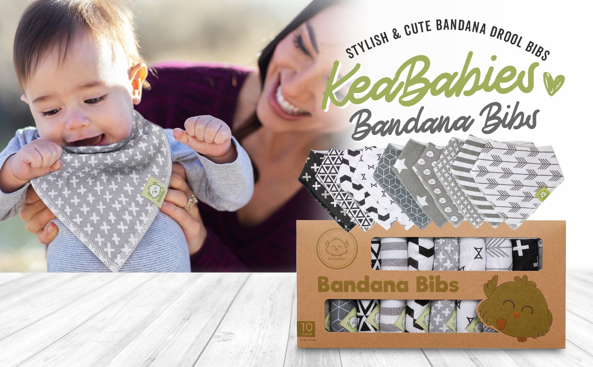 Stylish bibs for baby
