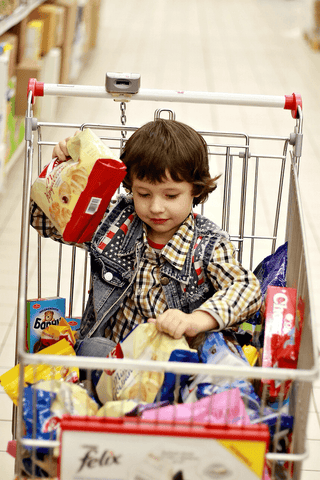 KeaBabies Grocery shopping with toddler