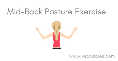Mid back posture exercise