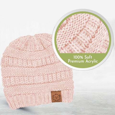 warm knitted beanie for Baby