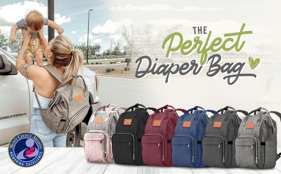 KeaBabies Original Diaper Backpack