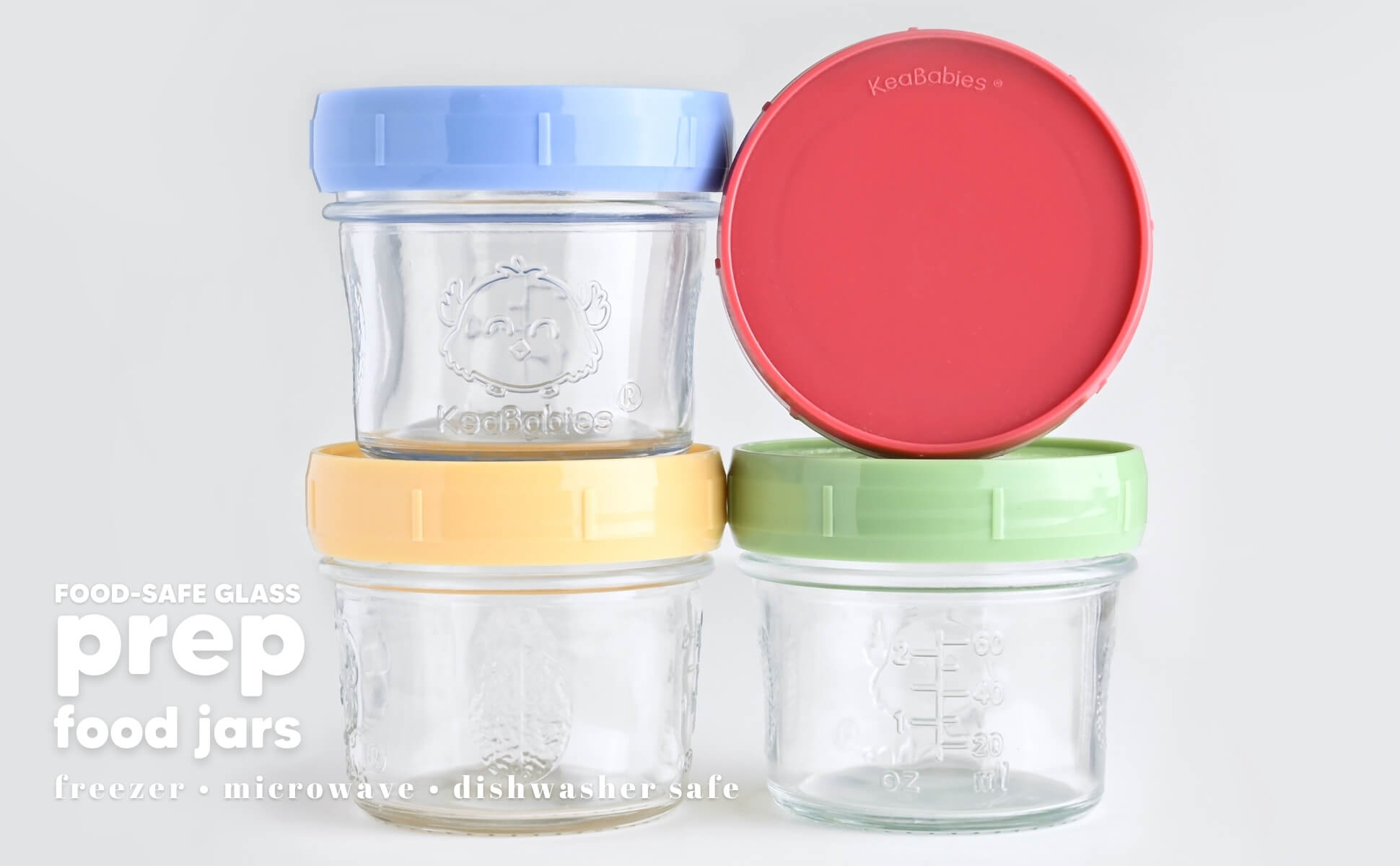 Prep Jars Baby Food Storage Glass Container