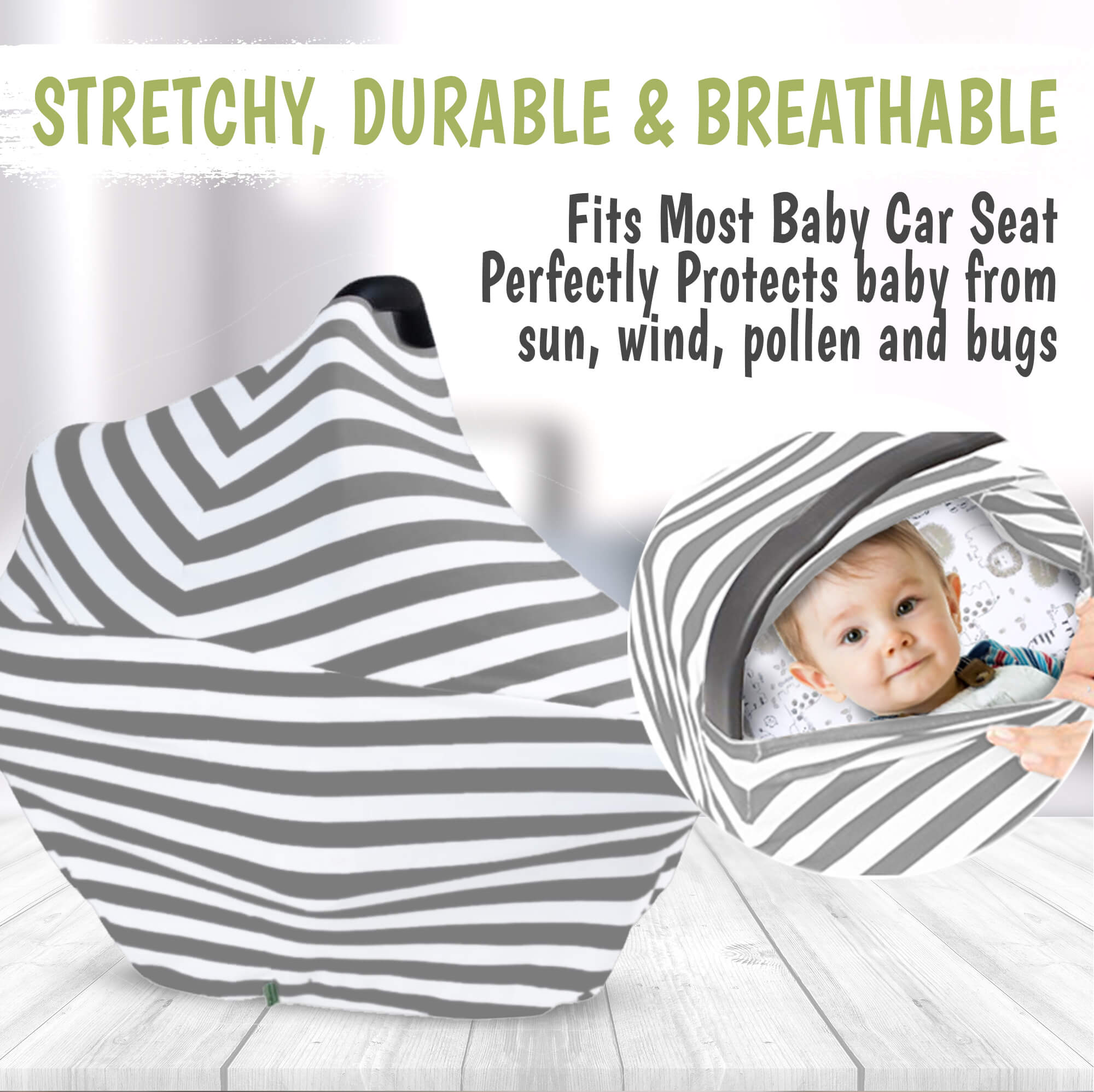 Award Winning Breastfeeding Cover Carseat Canopy Keababies