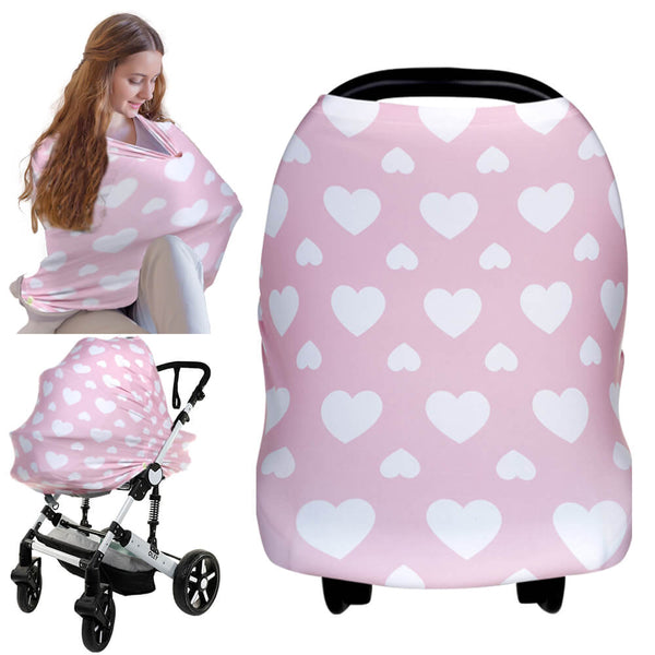 Carseat Canopy - Nursing Cover (Sweetheart)