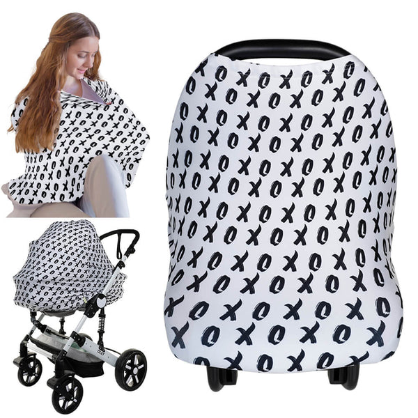 Carseat Canopy - Nursing Cover (XOXO)