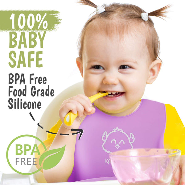 Silicone Bibs (Cotton Candy)