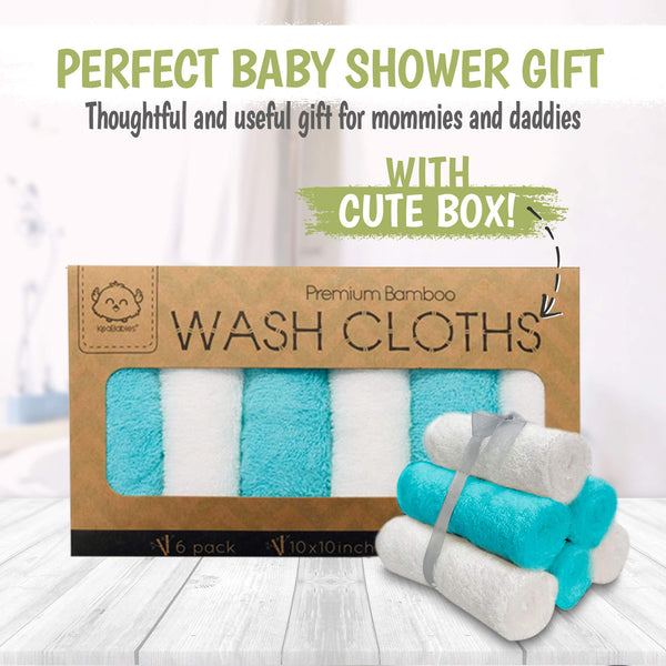 Baby Washcloths Towel (Mint Love)