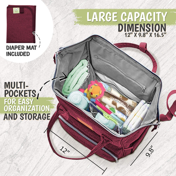 Original Diaper Backpack (Wine Red)