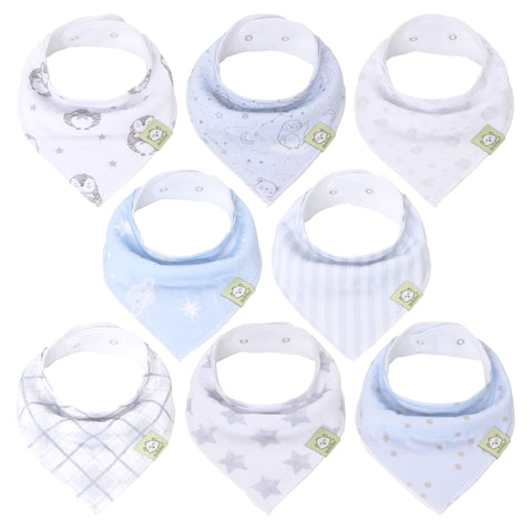 8-Pack Organic Bandana Bibs (Constellation)