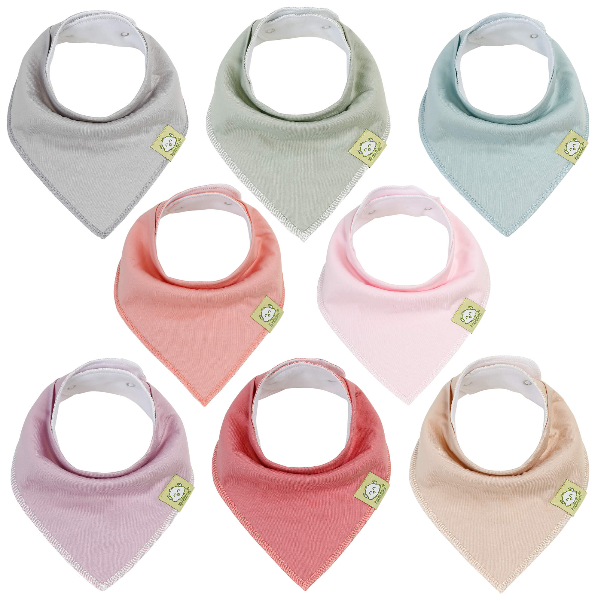 8-Pack Organic Bandana Bibs (Girls)