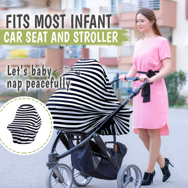 Carseat Canopy - Breastfeeding Nursing Cover
