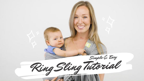 Baby Ring Sling & Wrap Carrier (Trendy Black)