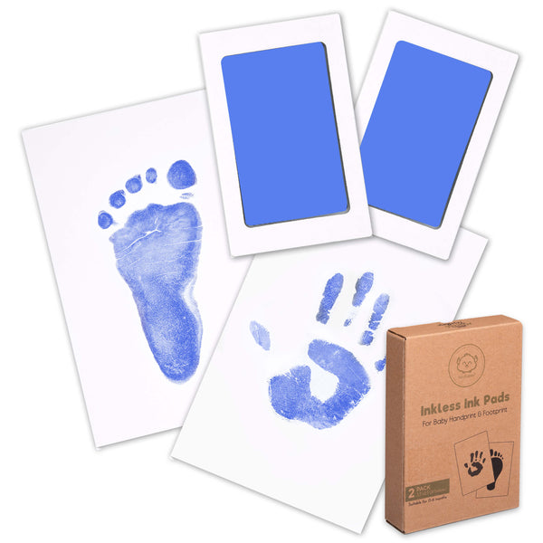 2-Pack Hand & Footprints Inkless Ink Pads (Sky Blue)