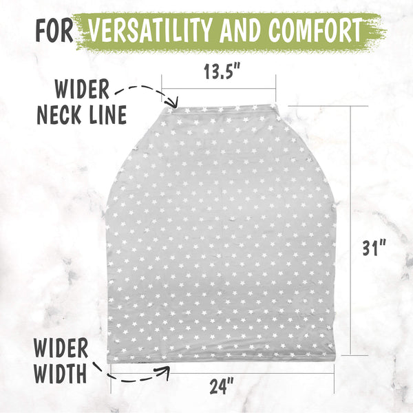 Carseat Canopy - Breastfeeding Nursing Cover (Starry Charm)