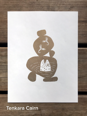 Load image into Gallery viewer, Tenkara Cairn - Art Print