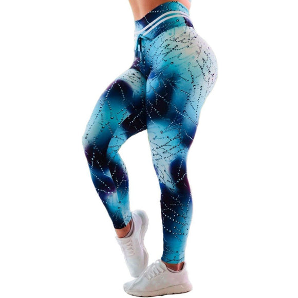 d51f2fbac1ccf6 Woman Yoga Sport Gym Fit Elastic Skinny Floral Print Ankle-length Pants  Trousers