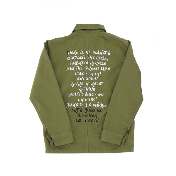WORK JACKET VERDE MILITARE MOACONCEPT CLAIMS