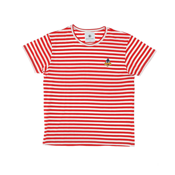 T-SHIRT DAFFY DUCK RIGHE BIANCO ROSSO