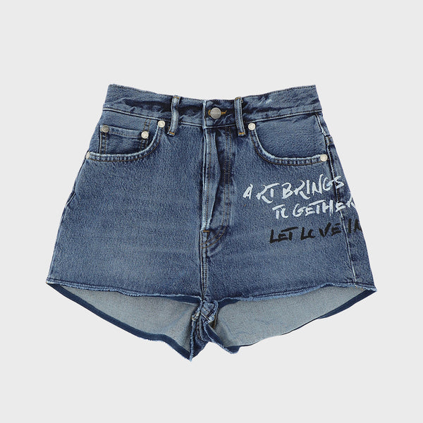 Moaconcept claims high waist denim shorts