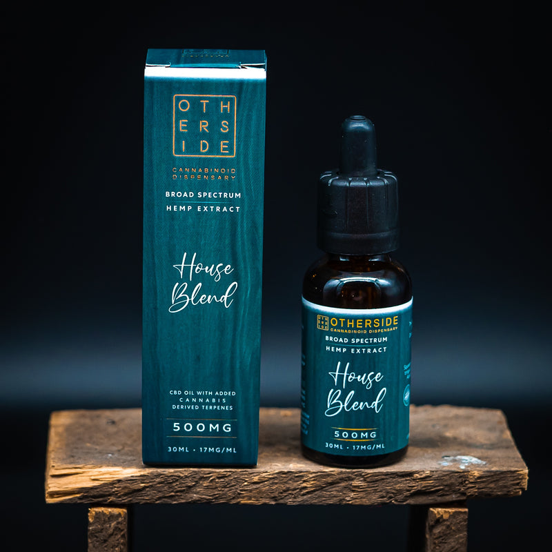 - Otherside - <br> House Blend CBD Oil <br> Organic Broad Spectrum Hemp Extract - Otherside