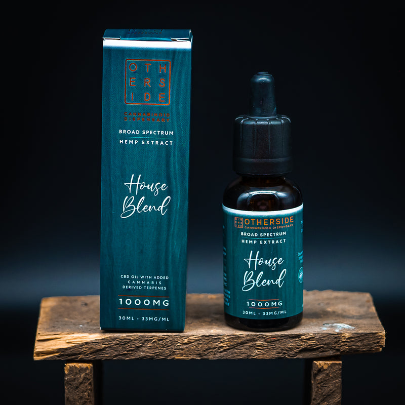 - Otherside - <br> House Blend CBD Oil <br> Broad Spectrum Hemp Extract - Otherside