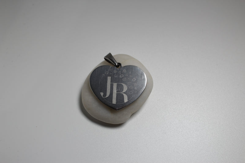Photo and Words remembrance engraved pendant