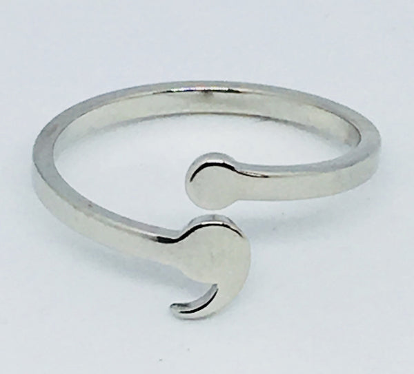Mental Health & Suicide Awareness semi colon Ring