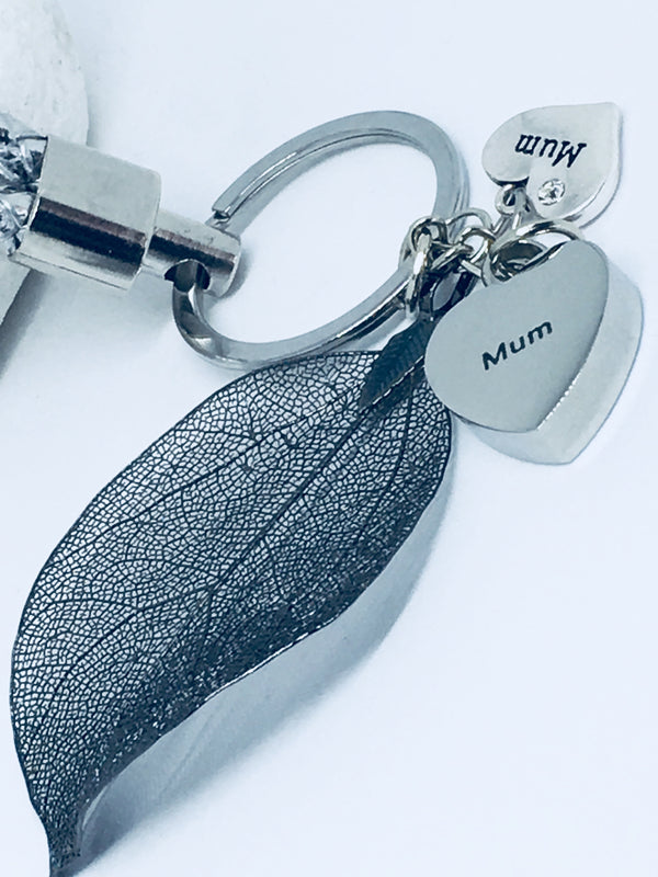 Feather keyring