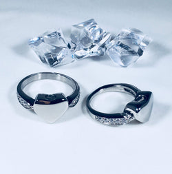 Diamonte cremation rings