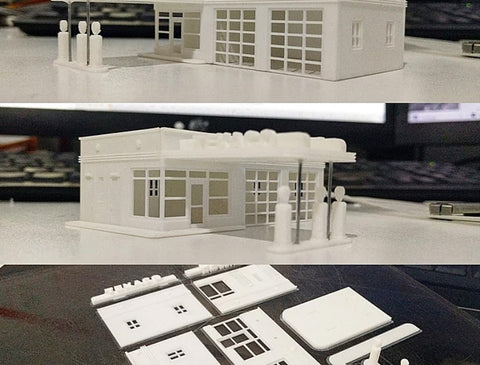 graphic about Printable Model Railroad Buildings known as Scale style kits, our kits: 3D posted or Urethane Casting