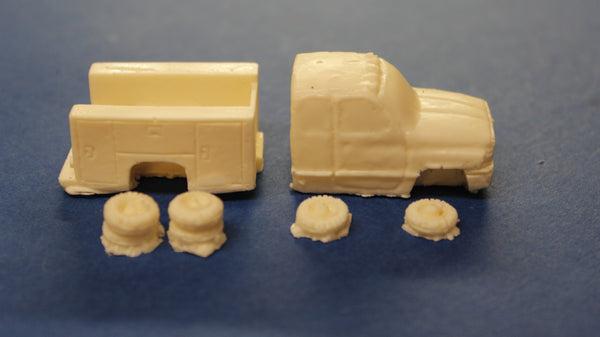 HO SCALE 1998 DODGE RAM QUAD CAB UTILITY RESIN KIT
