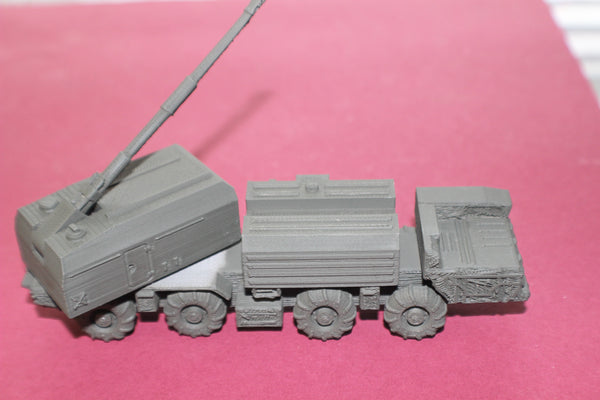 1-87TH SCALE 3D PRINTED RUSSIAN A-222E BEREG E 130MM COASTAL MOBILE ARTILLERY SYSTEM