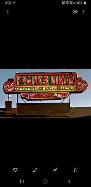 1-160TH N SCALE 3D PRINTED FRANKS DINER SIGN