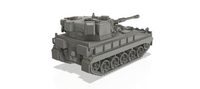 "1-72ND SCALE 3D PRINTED BRITISH POST WAR VICKERS FV433 FIELD ARTILLERY, SELF-PROPELLED ""ABBOT"""